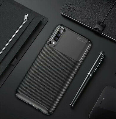 For Samsung Galaxy A30 A50 Matte Frosted Protective TPU Back Cover Carbon Case 11