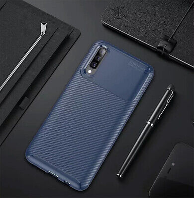For Samsung Galaxy A30 A50 Matte Frosted Protective TPU Back Cover Carbon Case 12