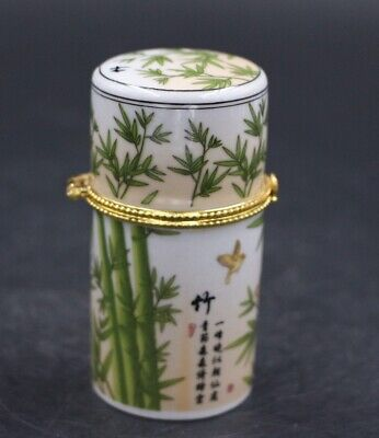 Chinese Porcelain bamboo Toothpick Box Holder Storage Lucky Jewelry Box 4
