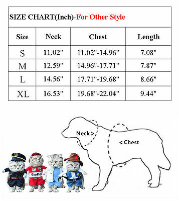 Pet Small Dog Cat Pirate Costume Outfit Jumpsuit Clothes For Halloween Christmas 12