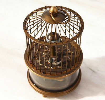 Rare brass birdcage Mechanical Table Clock 3