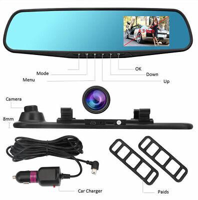 4.3'' HD Dual Lens Car DVR Dash Cam Front and Rear Mirror Camera Video Recorder 3