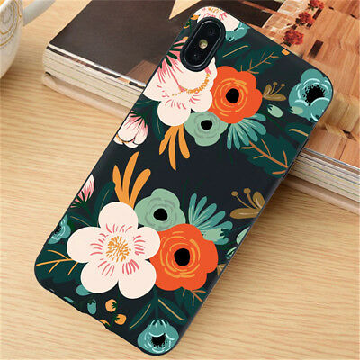 For iPhone 11 Pro XR XS Max SE 6S 7 8 Plus Case Silicone Painted Slim TPU Cover 5
