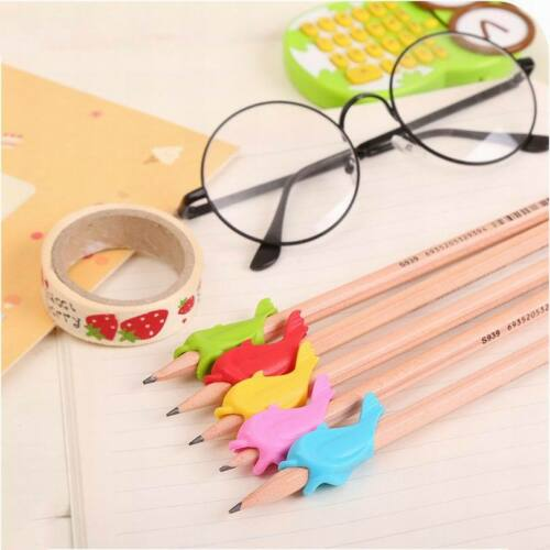 10Pcs Children Pencil Holder Pen Writing Aid Grip Posture Tools Correction AU 9