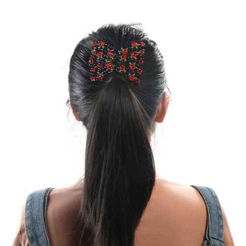 Mode Damen Magic Perlen Elastizität Doppel Haarkamm Klemme Dehnbar Zubehör