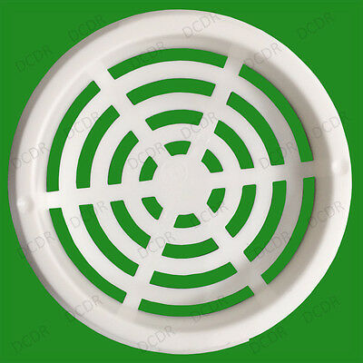 20x White Vivarium Reptile Push Fit Round Air Vents 44mm Hole Ventilation 48mm