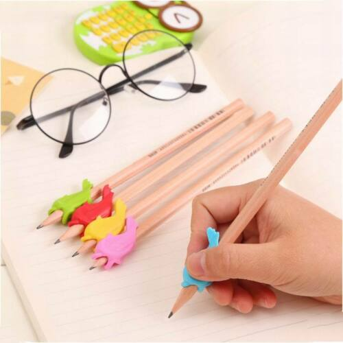 10X Children Pencil Holder Hold Pen Hand Writing Grip Posture Correction Tool AU 5