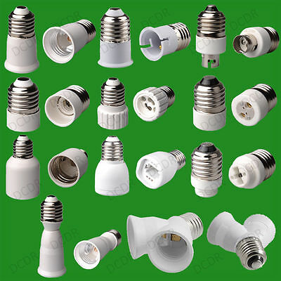 12x Baïonnette BC B22 à Petit Edison Vis SES E14 Ampoule Adaptateur Lampe Holder