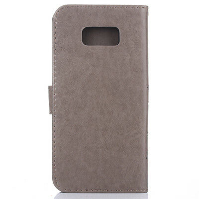 For Samsung Galaxy S8 S9 S10+ Leather Magnetic Flip Stand Card Wallet Case Cover 3