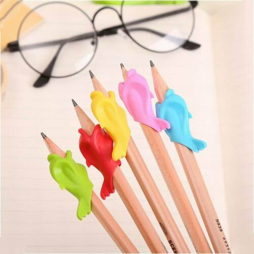 10Pcs Children Pencil Holder Pen Writing Aid Grip Posture Tools Correction AU 6