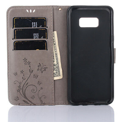 For Samsung Galaxy S8 S9 S10+ Leather Magnetic Flip Stand Card Wallet Case Cover 6