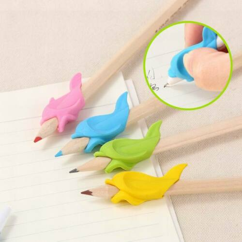 10 x Pencil Grips Pencil Holder Writing Aid Grip Hold Pen Posture Correction 5