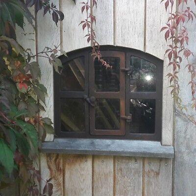 """Stallfenster , Fenster , Eisenfenster,Gussfenster mit Tür  ! Remise """"Theo"""" 3"""