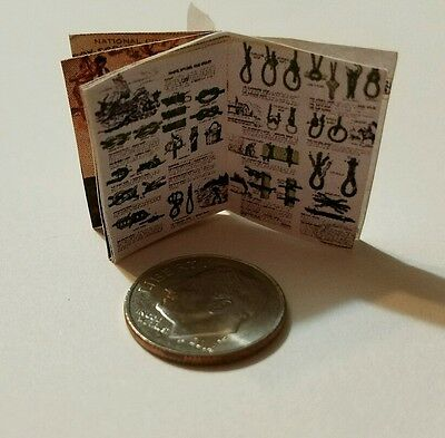Miniature book Boy Scouts Handbook  Action Figure Gi Joes Barbie 1//12 Scale O