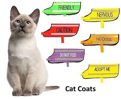 Cat Harness Pink Black Blue Yellow Red Waterproof Padded Adjustable  S M L EX L 3