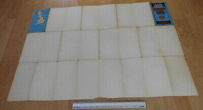 Bartholomews Revised Half inch Contoured ClothMap Great Briatin Sheet 9 Surrey 10