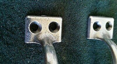 Set of 10 matching vintage, old metal pulls or handles restored 5