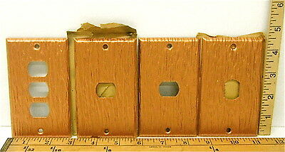 8 Heavy Duty Antique Grained Copper Plate Metal Switch Phone Toggle Covers Wall 3