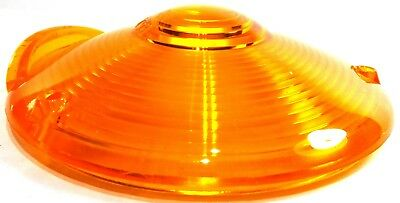 "Lens 4"" amber plstic 3 hole for Peterbilt Kenworth Freightliner combination lite 4"