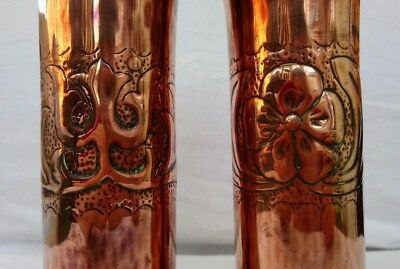 Arts & Crafts pair of Copper vases - believed to be Keswick KSIA 4