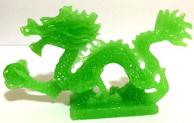 JADE COLOR Chinese Feng Shui Dragon Figurine Statue for Luck & Success 5 inch 2
