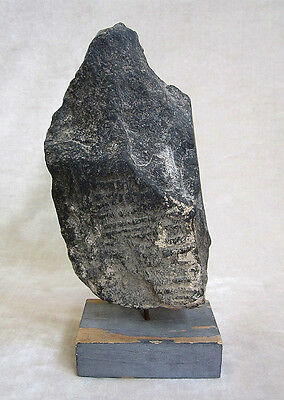 ANCIENT GANDHARAN SCHIST STONE SCULPTURE OF A FEMALE DEITY, circa 200 AD 5