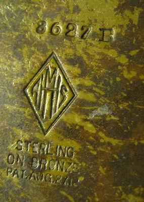 Antique Heintz Arts & Crafts Sterling On Bronze Lg Flower Garden Plant Urn Vase 8