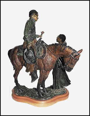 Truman Bolinger Original Bronce Escultura Firmado Occidental País Caballos Arte 2