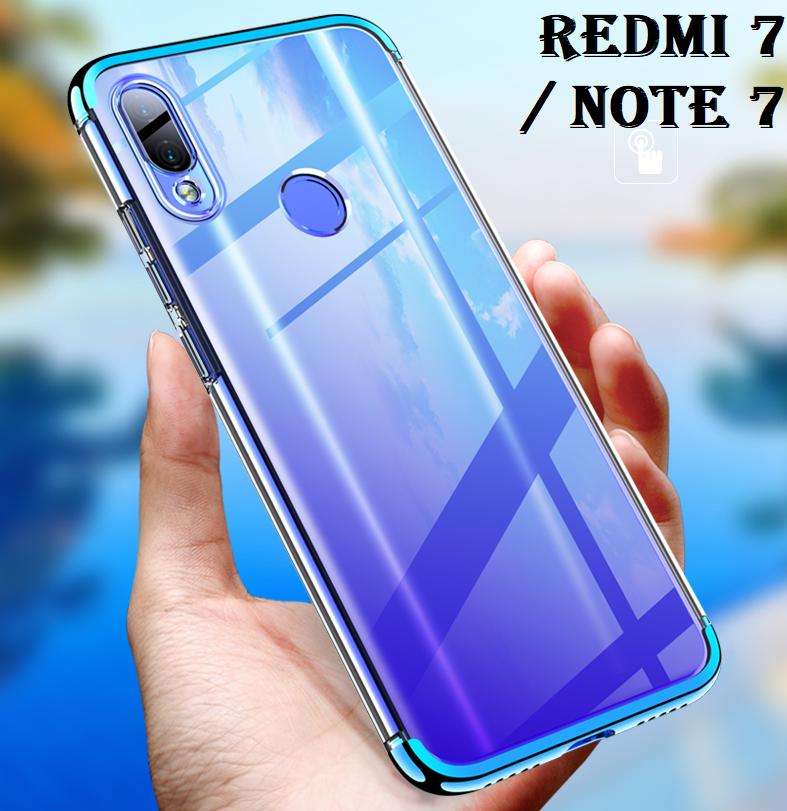 CUSTODIA per Xiaomi Redmi 7 / Note 7 COVER ELECTRO + PELLICOLA VETRO TEMPERATO 2