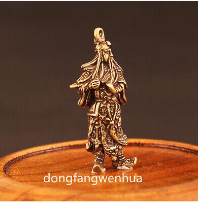 China Bronze Copper Fengshui  Guan Gong Yu Warrior God Immortal Pendant Amulet 3