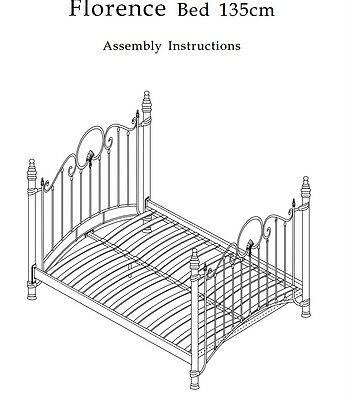 Florence Metal Bed Frame In Cream - Single Double Kingsize 2