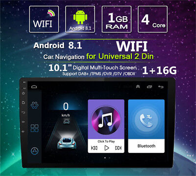 """Android 8.1 Double 2Din 10.1"""" HD Quad-Core Car Stereo Radio GPS Wifi Mirror Link 11"""