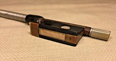 Antique Leseim Leipzig Violin Bow Six Sided Wood Shaft Circa Pre 1900 9