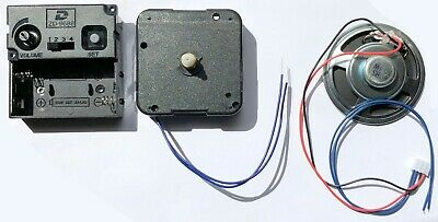 Quartz movement chiming clock kit set or parts, Young Town 12888, shaft 14mm, UK 2