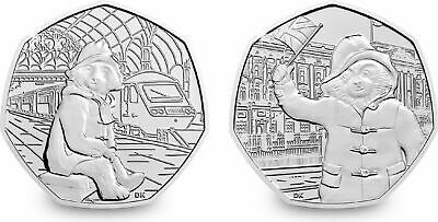 New 2019 Paddington Bear At The Cathedral . Tower . Station . Palace  50P Coin's 9