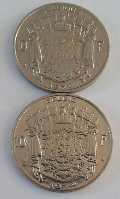10 Francs, 10 Frank 1969 -1979 Belgique Belgïe Belgium Baudouin FR NL KM# 155 7