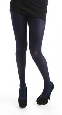 dfac95fd7d443 ... 120 Denier Opaque Pamela Mann Black Navy Tights Plus Size 16-32 One Xl  Xxl