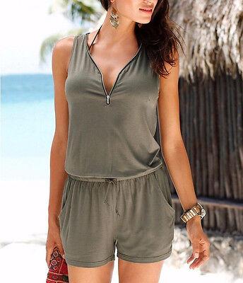 ... femme vacances mini combi-short combinaison été robe de plage Court  pantalon 11 6ecfa66ad08