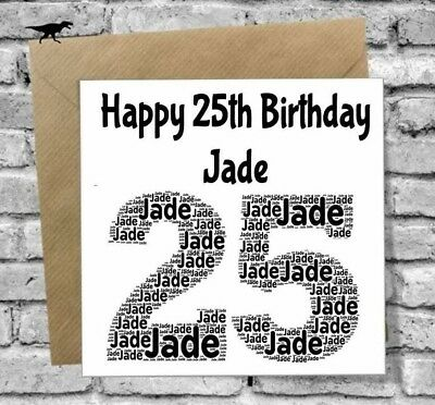 Personalised 25Th Birthday Card Daughter Son Brother Sister Boyfriend Girlfriend 2