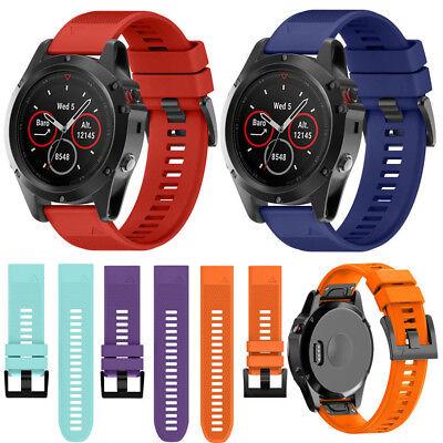 Silicone Quick Install Band Easy Fit Wrist Strap For Garmin Fenix 3 5 5X Plus 5