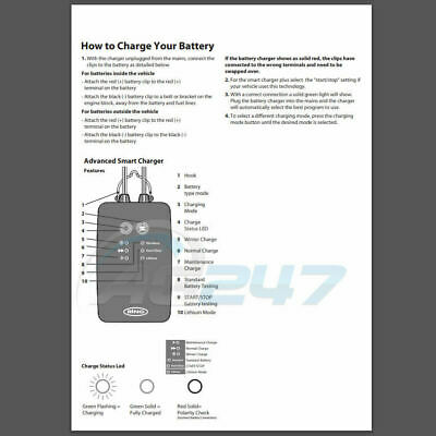 Ring RSC706 12v 6A 8 Stage Start/Stop Car 4x4 Maintenance Smart Battery Charger 10