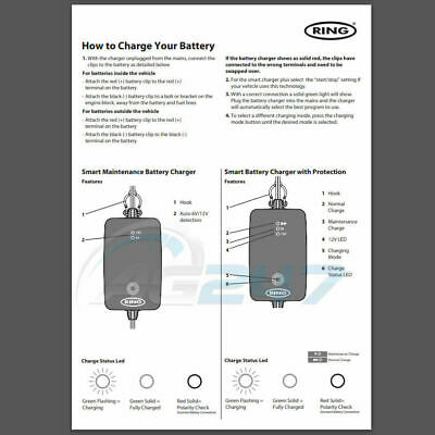 Ring RSC706 12v 6A 8 Stage Start/Stop Car 4x4 Maintenance Smart Battery Charger 9