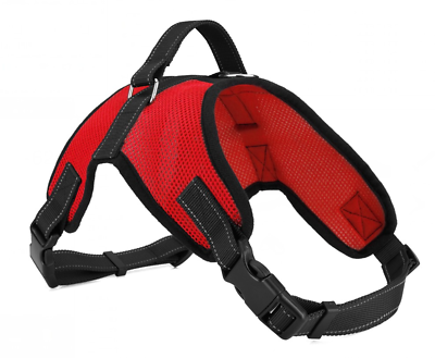 Pet Control Harness for Dog Soft Mesh Walk Large Small Medium XXL Pink Red Black 4