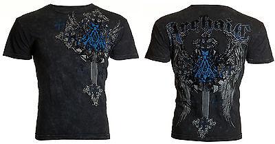 Affliction/ Archaic Mens Thermal Whipstitch T-Shirt ACCURSED Biker UFC
