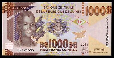 Guinea  1000 Francs  2017  Pick 48b  UNC = SC 2