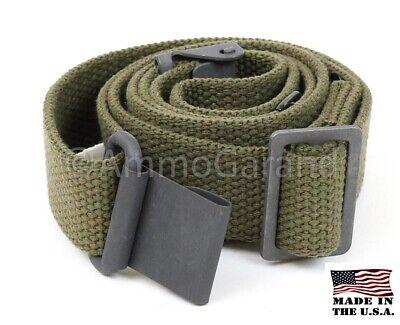 M1 Garand Sling OD Green Cotton Web for USGI 1903 Mil Civ WWII Korea *US Made* 2