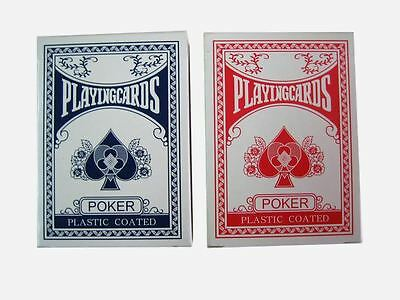 2 Decks of Professional Plastic Coated Playing Cards Poker Size- Various Colours 2