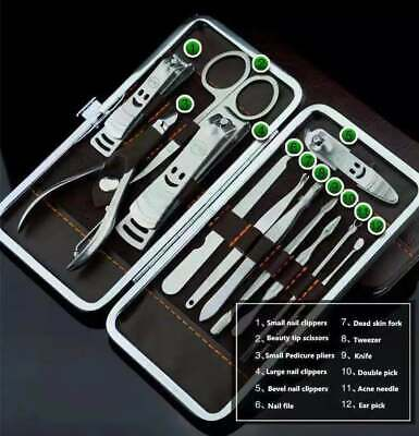 12PCS Pedicure / Manicure Set Nail Clippers Cleaner Cuticle Grooming Kit Case 3