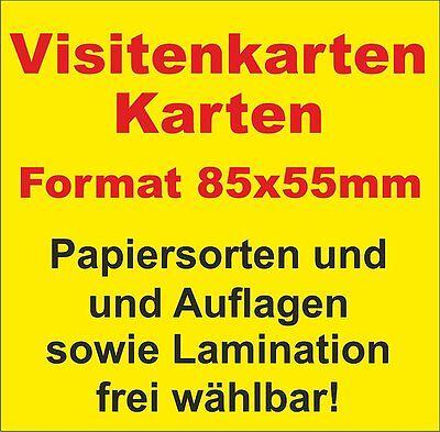 Visitenkarten - AUFLAGE + PAPIERSTÄRKE und Laminierung frei wählbar! 2