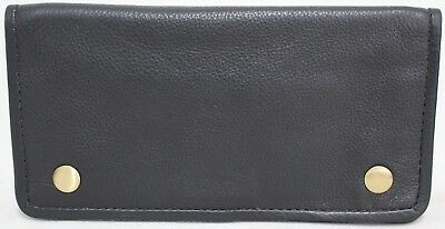 Quality Full Grain  Vintage Leather Tobacco Pouch. Style:12033. BLACK/BROWN 9